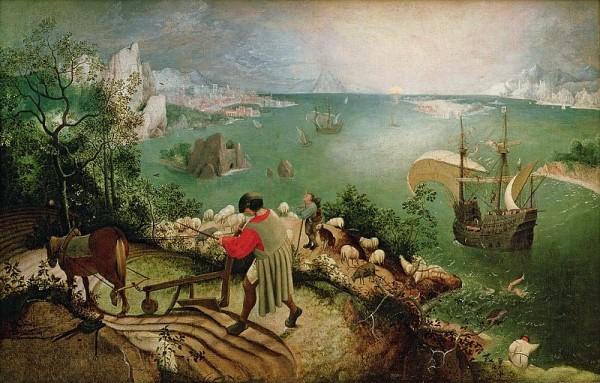 Landscape with Fall of Izarus_Bruegel_small
