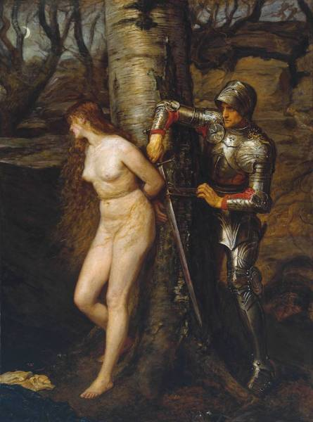 The Knight Errant 1870 by Sir John Everett Millais, Bt 1829-1896