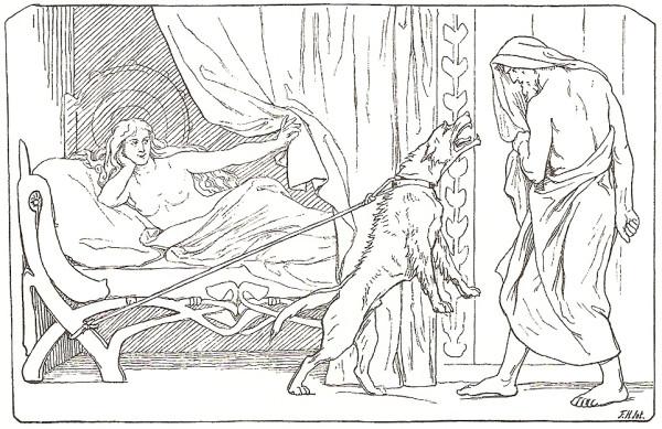 Billingr's_girl,_bitch,_and_Odin_by_Frølich